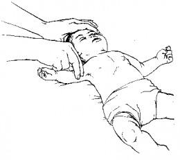 brachial pulse checking