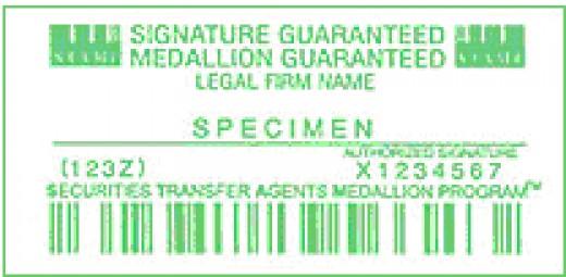 medallion signature guarantee