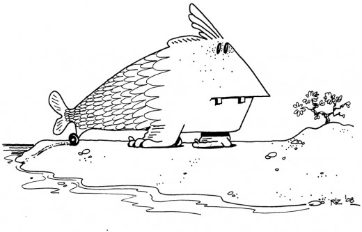 Two-Toothed Freckled Landfish with Training Wheel