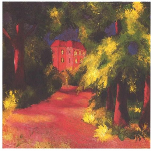 Red House in Park by August Macke