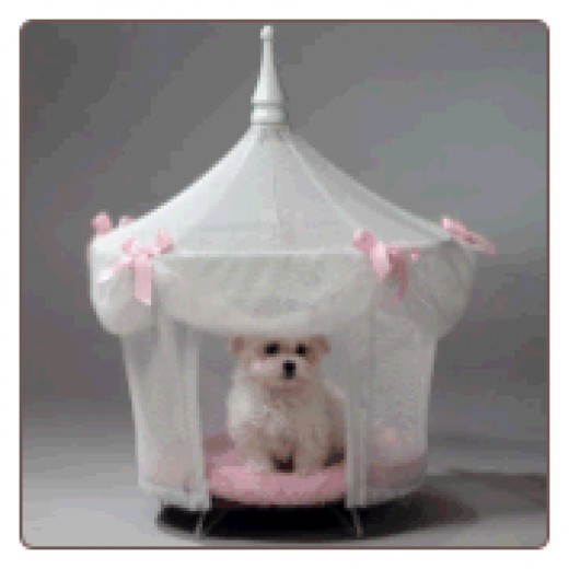 Pink Princess Dog Bed