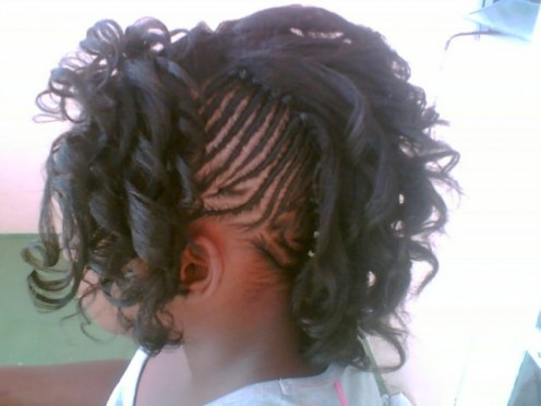 Hairstyles  Kids on Hot  Pictures Of Braided Hairstyles For Black Kids