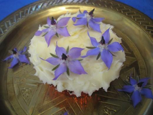 Borage cupcakes