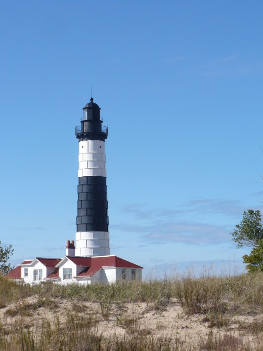 Big Sauble Point Lighthouse on  Lake Michigan, Ludington State Park.