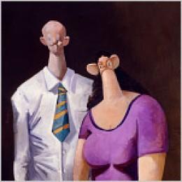 Mr. & Mrs. Tea Party, (George Condo)
