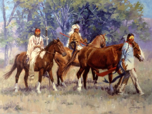 the loss of therapeutic horses in the equine community of the crow native americans Riding double and singing their death songs, they drove the blindfolded horse over a cliff as the place where the white horse native americans lived in.