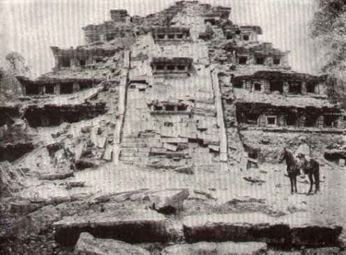 Temple before restoration