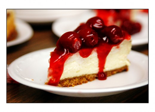This cheesecake topped with cherries or your favorite topping is unbelievably good.