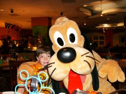 The Character breakfast at Paradise pier
