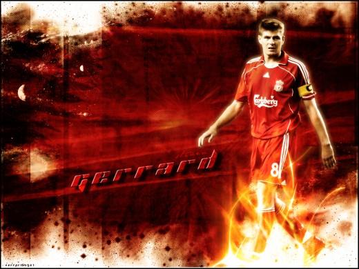 Steven Gerrard Wallpaper - Fire Lighting Gerrard Path In A World Of Chaos