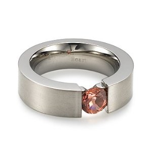 Titanium Ring with Pink Tourmaline