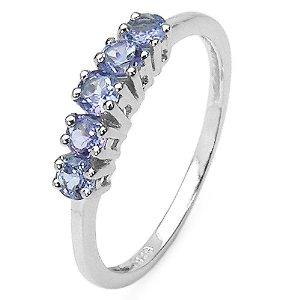 Genuine Tanzanite Silver Ring
