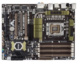 Asus LGA 1366 Intel X58 Extreme Reliability and Durability ATX Motherboard Sabertooth X58
