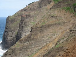 A good look at the steep cliff section.