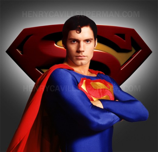 This Photoshop of Henry Cavill as Superman gives you a real feel for what he's going to be in the 2012 movie!