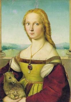 Sanzio, Raffaelo - Dama con Liocorno - 1506 Public domain ~ copyright has expired Details: http://en.wikipedia.org/wiki/File:Sanzio,_Raffaelo_-_Dama_con_Liocorno_-_1506.jpg