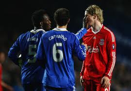 Torres back in his Liverpool days -see him in the red? Well from now on he'll be in the blue.