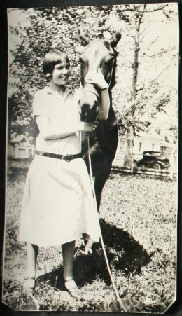 My grandmother with her horse.