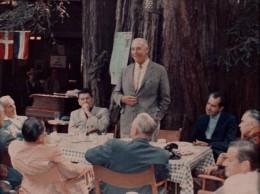 Summer, 1967 at Bohemian Grove with Ronald Reagan, Harvey Hancock, Richard Nixon and Glenn Seaborg.