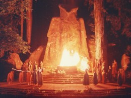 Cremation of Care ceremony with The Owl