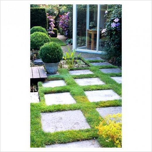 Garden design with paving stones vertical home garden for Garden slab designs