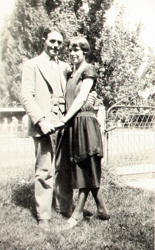 One of my favorite vintage photos of my grandparents around 1920.