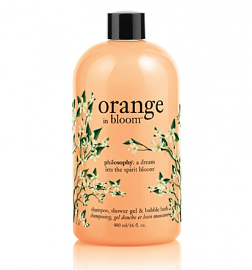Philosophy's Orange in Bloom shower gel smells more flowery than fruity, but is a refreshing spring or summer scent.