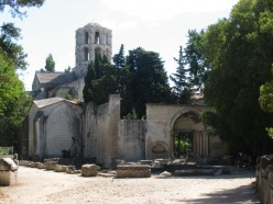 Walk through Les Alyscamps in Arles, France