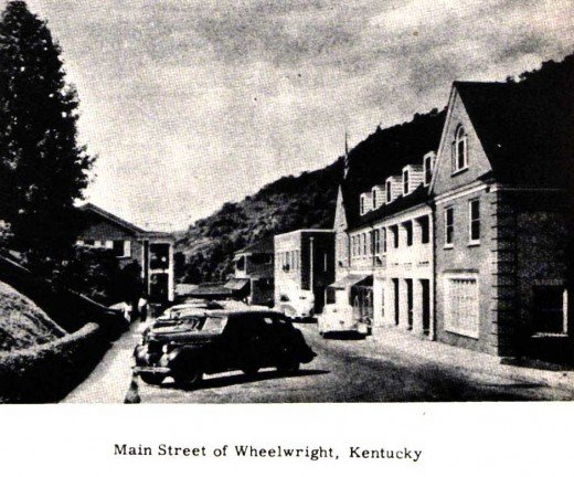 This is a view of main street Wheelwright before the departure of Inland Steel