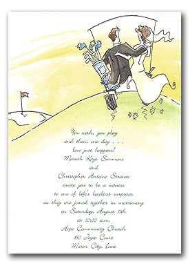 Incorporate some cute golf graphics in your invitations for a whimsical touch.