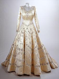 The dress of Princess Elizabeth, now Queen Elizabeth II