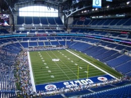 Lucas Oil Stadium is home to the Indianapolis Colts