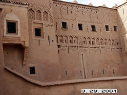 Taourirt Kasbah's detailed design, Ouarzazate, Morocco.