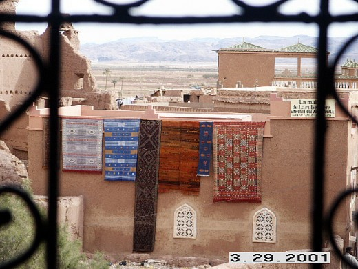 View from Taourirt Kasbah, Ouarzazate, Morocco.