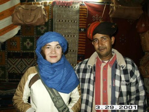 Artisan and myself at the Ensemble Artisanal, Ouarzazate, Morocco.