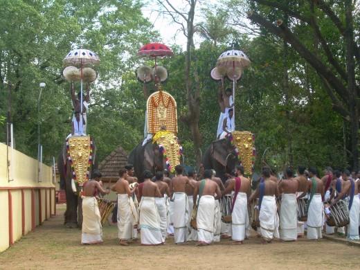 Kerala temple festival