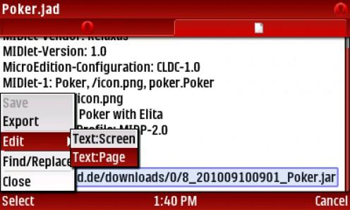 27) SELECT Menu-Edit-TextPage