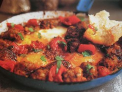 Moroccan Kefta with Eggs and Tomato