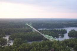 The Thousand Islands Bridge, near Gananoque, Ontario