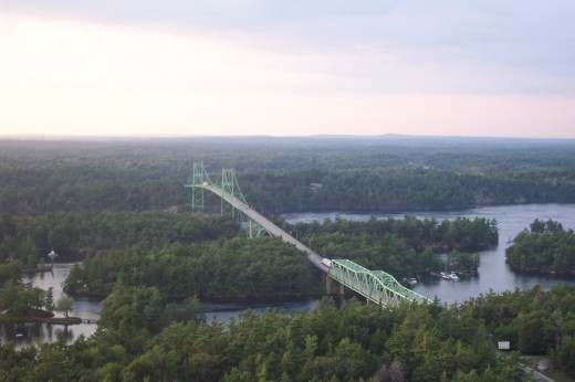 The Thousand Islands Bridge, near Gananoque, Ontario