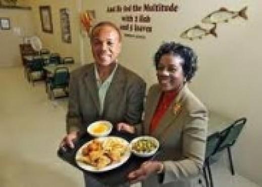 Mr. & Mrs Savage owners of Fish 'N' Loaves
