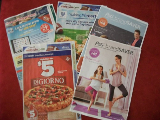 Many coupons can be found in the Sunday paper.