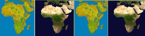 http://en.wikipedia.org/wiki/File:Topography_of_africa.png http://en.wikipedia.org/wiki/File:Africaaaaaaaaa.jpg Public Domain ~ Nasa