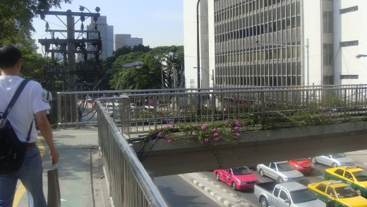 View of Wireless  Road from Phloen Chit Exit