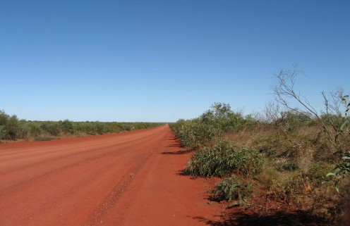 Looking east toward Pardoo, about seven kilometres along the Cape Kedauron Road.