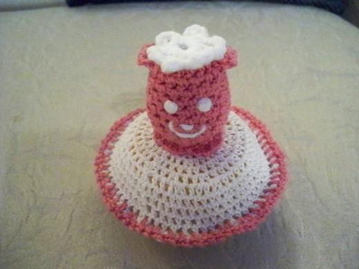 Crochet a rattle.