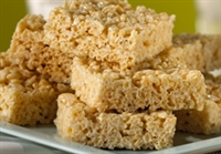 Rice Krispies Treats are traditionally cut into squares.