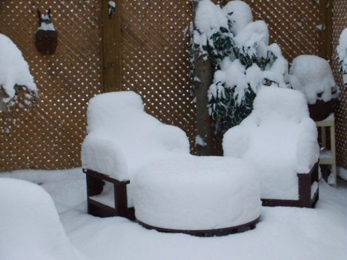"""Yes, there really is about 12"""" of accumulated snow..."""