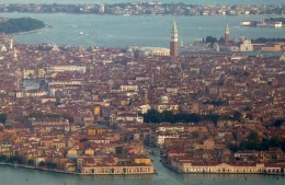 Venice with its many canals and bridges.