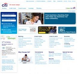 Citi Main Login Web Page